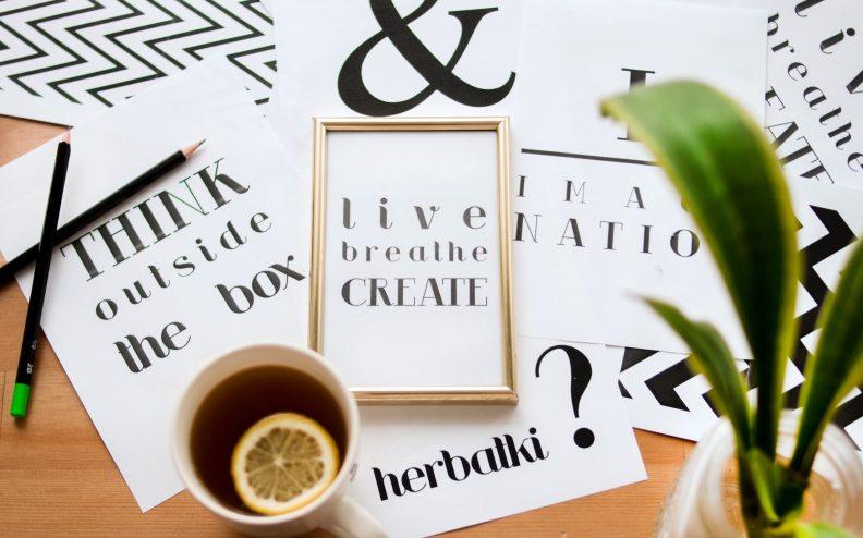 quote-calligraphy-under-cup-of-lemon-tea-688668
